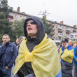 Protesters near Ministry of Defense of Ukraine — Stock Photo #52389161