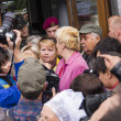 Protesters near Ministry of Defense of Ukraine — Stock Photo #52389761