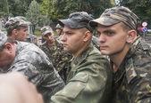 Protesters near Ministry of Defense of Ukraine — Foto de Stock