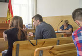 Igor Lutsenko in the courtroom — Foto de Stock