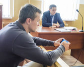 Igor Lutsenko in the courtroom — Stockfoto