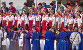 Artists of folk ensemble named after Pavlo Wirski — 图库照片