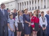 Wife and children of the President Petro Poroshenko — Stock Photo