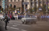 Kiev parade to mark Independence day — Stock Photo