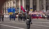 Kiev militaire parade ter gelegenheid van de dag van de onafhankelijkheid — Stockfoto