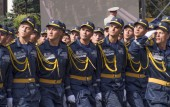 Kiev military parade to mark Independence day — Stock Photo