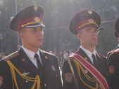 Kiev military parade to mark Independence day — Stock Photo