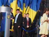 President  Petro Poroshenko in honor of Flag Day of Ukraine — Stock Photo