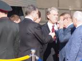 Former Presidents Leonid Kravchuk, Leonid Kuchma and Viktor Yushchenko — Stockfoto