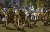 Military parade  in Kiev ahead of Independence Day — Stock Photo