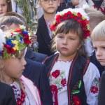 Children of migrants go to school — Stock Photo #52584139