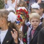 Children of migrants go to school — Stock Photo #52584141