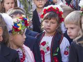 Children of migrants go to school — Stock Photo