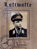 First page Luftwaffe pilot certificate — Stock Photo