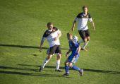 "Charity football match at the stadium ""Dinamo"" Kiev — Stock Photo"