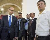 Arseniy Yatsenyuk in sidelines of congress — Stock Photo