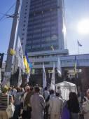 "Protest of activists of ""Association of Bohdan Khmelnytsky"" — Stock Photo"