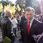 ������, ������: Oleg Lyashko goes to a meeting