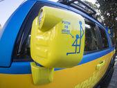 "Icon on the car of activist of association ""Avtomaydan"" — Stock Photo"
