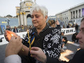 On Maidan remembered Georgy Gongadze — Stock Photo