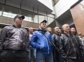 "Former employees of ""Berkut"" — Foto Stock"