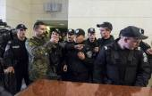Police trainees passed to the court hearing — Foto de Stock