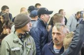 "Employees of ""Berkut"" and representatives of Maidan — Foto de Stock"