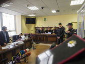 Judicial board on the case of Dmitry Sadovnik — Stock Photo