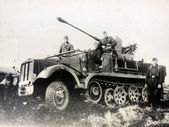 SdKfz 6 a half-track military vehicle — Stock Photo