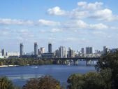 Area Rusanivka and Paton Bridge — Stock Photo