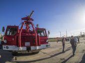 Camión de bomberos de aeródromo — Foto de Stock