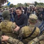 ������, ������: Oleg Tyahnybok sees off soldiers