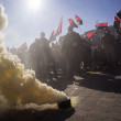 Постер, плакат: Right sector lit smoke bomb at CEC