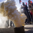 ������, ������: Right sector lit smoke bomb at CEC