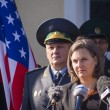 Постер, плакат: Victoria Nuland speaks during ceremony