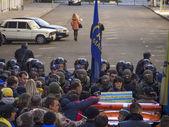 Avtomaydan protests near Presidential Administration — Stock Photo