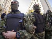 Battalion Kiev-1 in cordon — Stock Photo