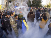 Avtomaydan protests near Presidential Administration of Ukraine — Stock Photo