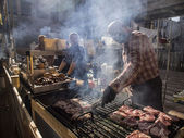 Street Food Festival in Kiev — Stock Photo