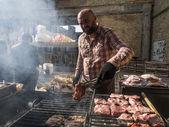 Street Food Festival in Kiev — Stock Photo