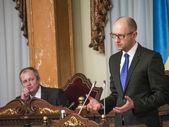 Prime Minister of Ukraine Arseniy Yatsenyuk — Stock Photo