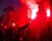 March of Heroes in Kiev — Stock Photo