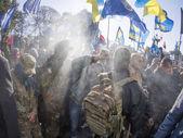 Disturbances near Verkhovna Rada — Stock Photo