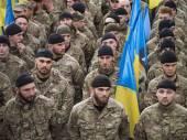 Soldiers of Azov volunteer battalion — Stock Photo