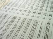 Print of ballots produced — Stock Photo