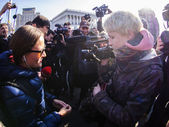 Kiev police freed  journalist — Stock Photo