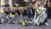 Ukrainians celebrate anniversary of Euromaidan — Stock Photo