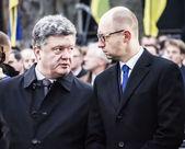 Petro Poroshenko and Arseniy Yatsenyuk — Stock Photo