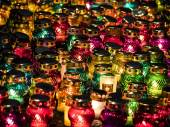 Lamps near Memorial of Holodomor — Stock Photo