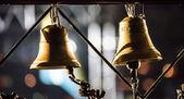 Ringing bells near Memorialof Holodomor — Stock Photo